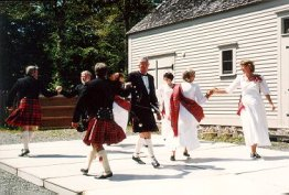 Dancing at Commissariat House during Scottish Heritage Week, August 2001