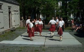 Dancing at Commissariat House during Scottish Heritage Week, August 2002