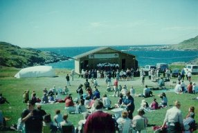 Brimstone Head Folk festival, Fogo island, August 1999