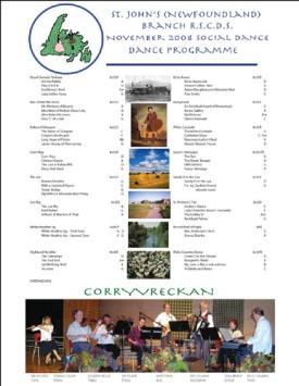 Dance Program - Nov 2008