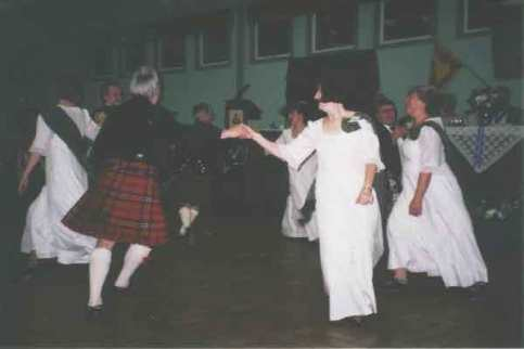 Demonstration dancers at the Burns Supper